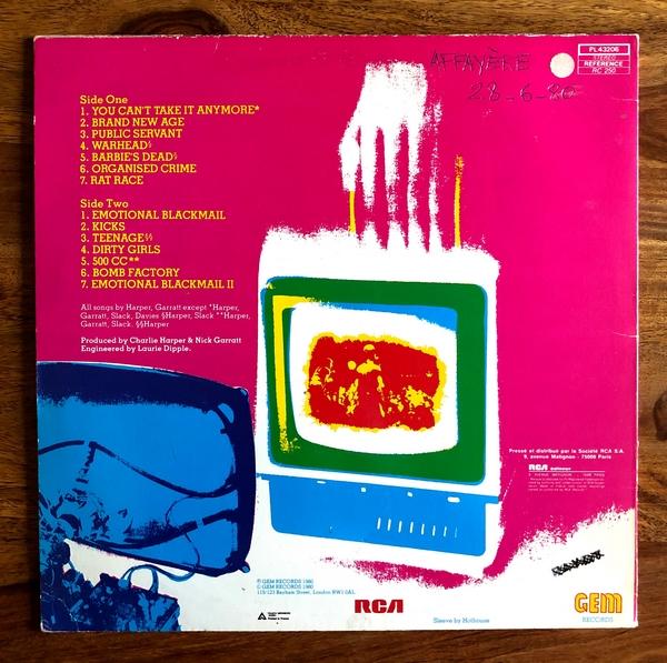 U K Subs Brand New Age Vinyl Lp 33t Melodisque